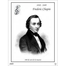 mec1167 - Frederic Chopin - 160 de ani de la moarte - colita n