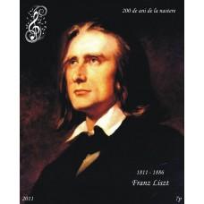mec1290 - Franz Liszt - 200 de ani de la nastere - colita n