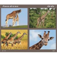 mec1377 - Fauna africana - Girafa - bloc n