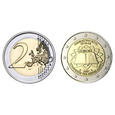 Olanda 2007 - 2 Euro comemorativa - A 50-a aniversarea a Tratatului de la Roma - Cal 1