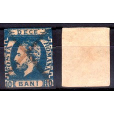 31b - Carol I cu barba - 10 bani albastru - valoare ns2