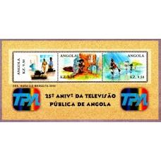 Angola 2000 - A 25-a aniversare a Televiziunii Nationale - bloc